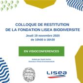 Colloque de restitution de la Fondation LISEA Biodiversité : Bilan de huit années d'actions en faveur de la préservation de la biodiversité